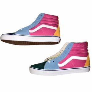 Vans Sk8-Hi Bright Color Blocked Skate Shoes - 12